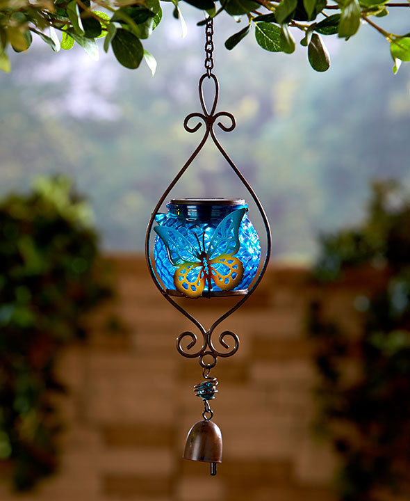 Butterfly Solar Hanging Lamp Solar Garden Decor Butterfly Solar Wind Chime New