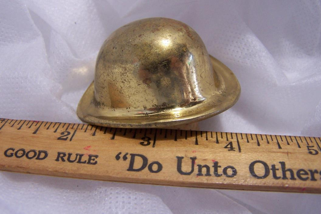 Vintage Brass DERBY Hat Bottle Stopper Cork, Bowler Hat