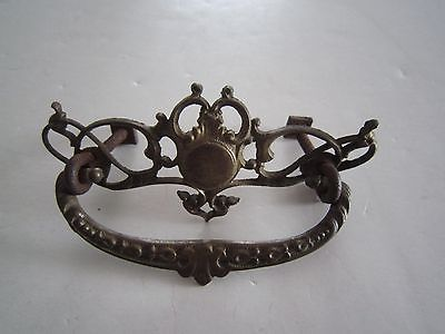 Antique Victorian Ornate BRASS ?? DRESSER DRAWER HANDLE PULL #2