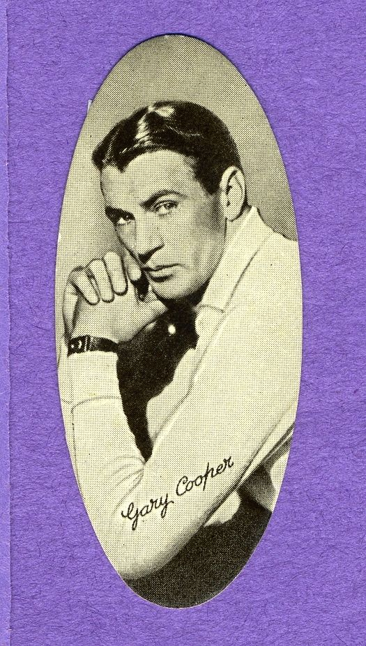 1934 Film Stars Oval #43 Gary Cooper