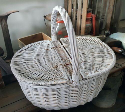 Vintage Picnic Basket Grey
