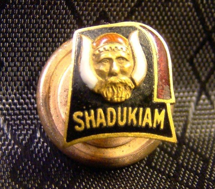 Masonic Shadukiam Shriner Hat Enameled Lapel Pin Vintage Masons Rare