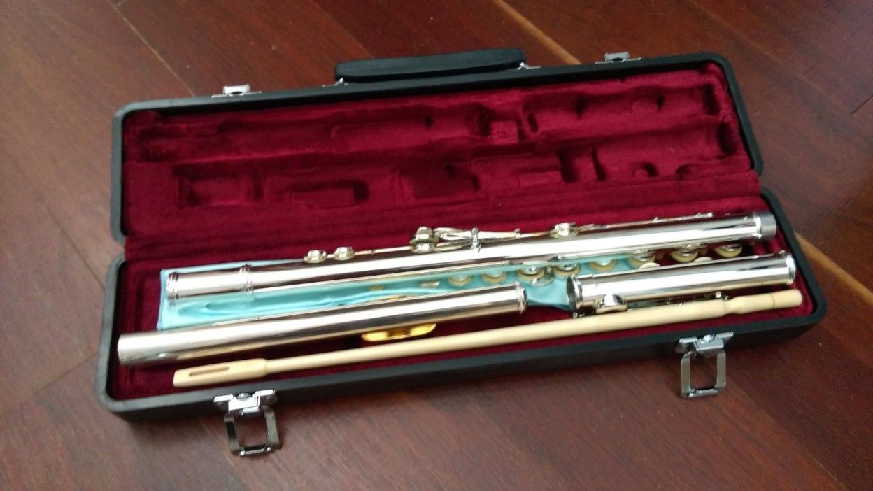 Jupiter CF-50 Plateau Flute With Gold-Plated Lip Plate NEW