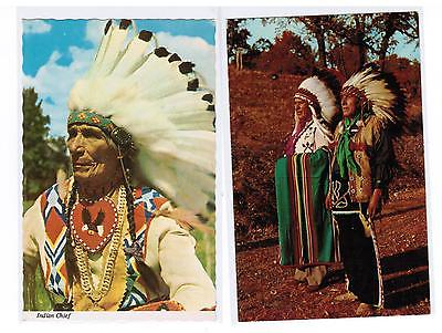 Vintage Native American Indian Chief & Two Native American Indian Postcards!