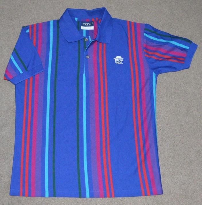 Vtg Pizza Hut Uniform Polo Shirt Retro Costume Small Made in USA