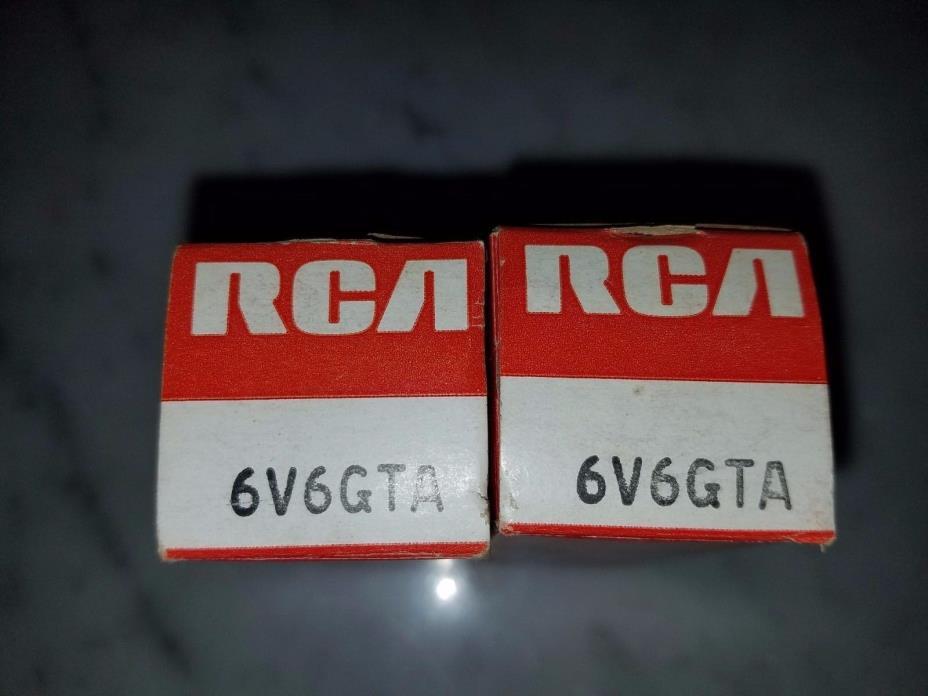 Two (2) VINTAGE RCA 6V6GTA***NIB***NOS*** TV-7 TESTED**LQQK** RARE
