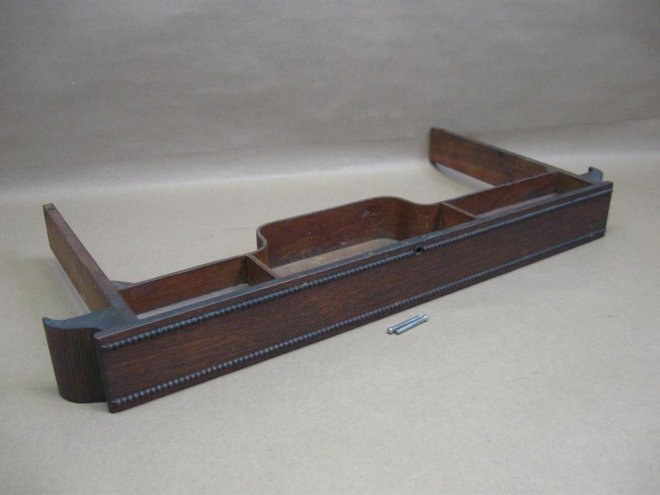 Antique Singer Oak Beaded Center Drawer Treadle Sewing Machine Base Part