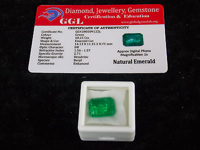 10.25 ct. Natural Certified Colombian Emerald