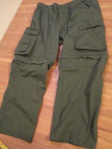 Boy Scouts Scout Classic Green Convertible Zip Leg Cargo Pants Uniform sz 40 42