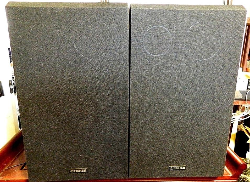 VINTAGE FISHER STUDIO STANDARD ST-015 3-WAY 100W FLOOR SPEAKERS  EUC