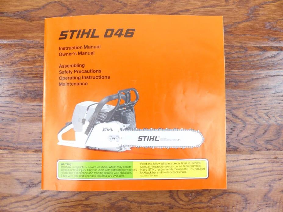 STIHL Instruction Manual STIHL 046 Series Power Saws Free Shipping Within USA