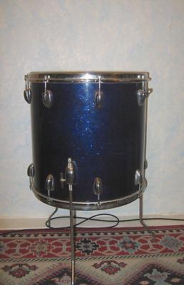 Vintage 16 x 16 Slingerland Floor Tom Drum -  DARK BLUE SPARKLE - 1965