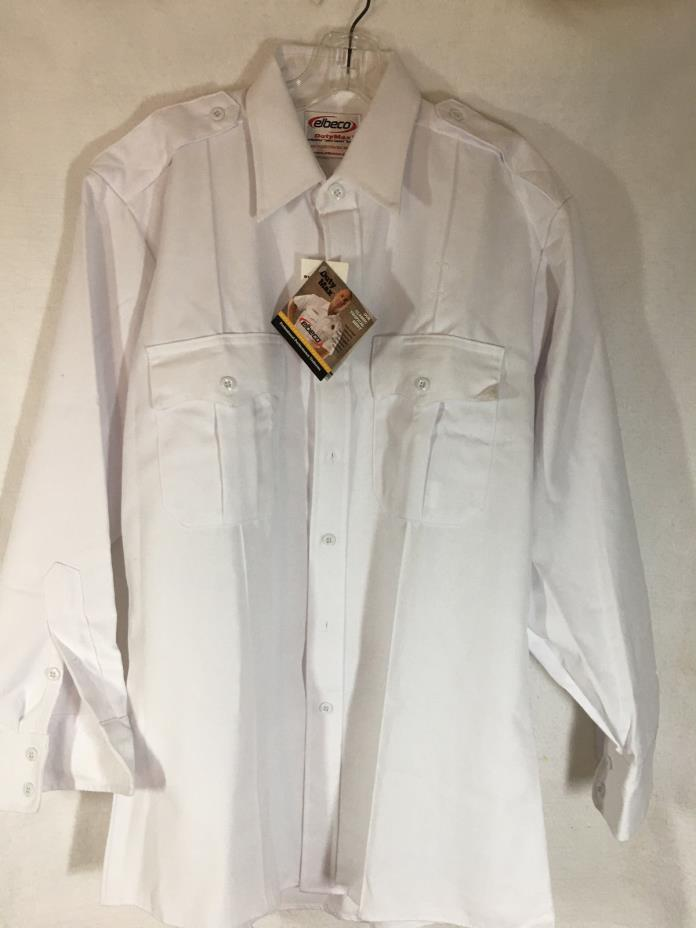 Elbeco Duty Max White Work Shirt - Size 1-33