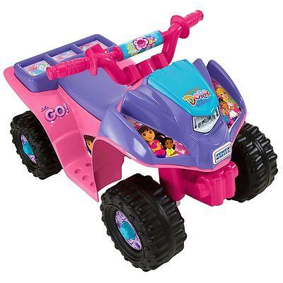 Power Wheels Dora Lil Quad ATV 4 Wheeler New 6V 6 Volt + Battery & Charger