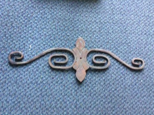 Antique Wrought Iron Fence Part Garden Decor Vintage Old