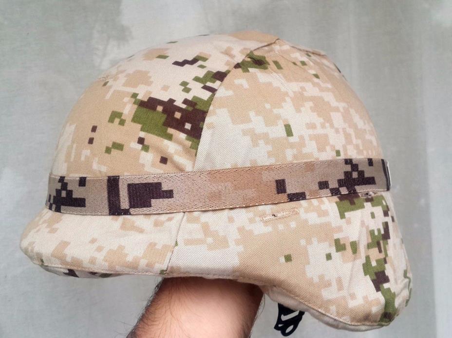 RARE Mexican Army Uniform Desert Digital Camo COVER & ELASTIC BAND SEDENA Mexico