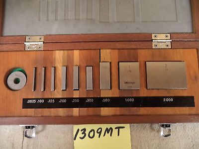 Mitutoyo #BE1-9-3 Gage Block Set #516-935 w/Certs (#1309MT)