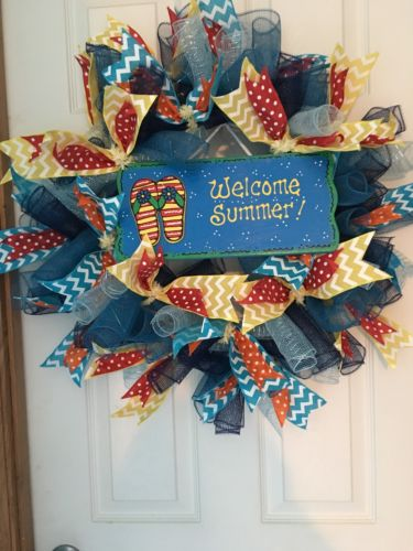 deco mesh wreath Summer