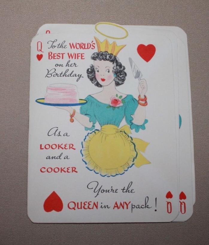 Vintage 1950's Gibson Birthday Card/Book- Wife