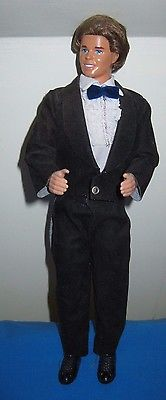 1981 Ken Wedding Doll~Suede Tuxedo, ruffle front shirt, black shoes, rooted hair