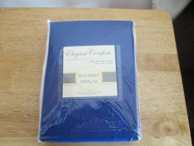 Elegant Comfort Egyptian Cotton Twin Flat Sheet 1500TC New