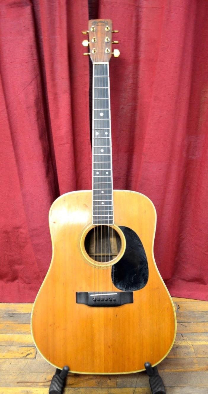 Vintage 1968 Martin D-35 Brazilian Rosewood Acoustic Guitar with Case