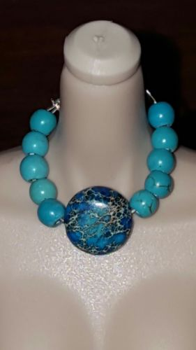 sea sediment jasper turquoise poppy parker fashion royalty barbie doll necklace