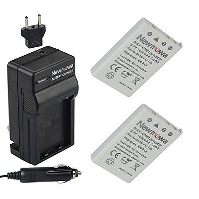 Newmowa EN-EL5 Camcorder Batteries Battery (2-Pack) and Charger kit for NIKON