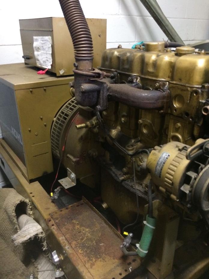 KOHLER FAST RESPONSE II 25KW Industrial Generator w/Fuel Tank