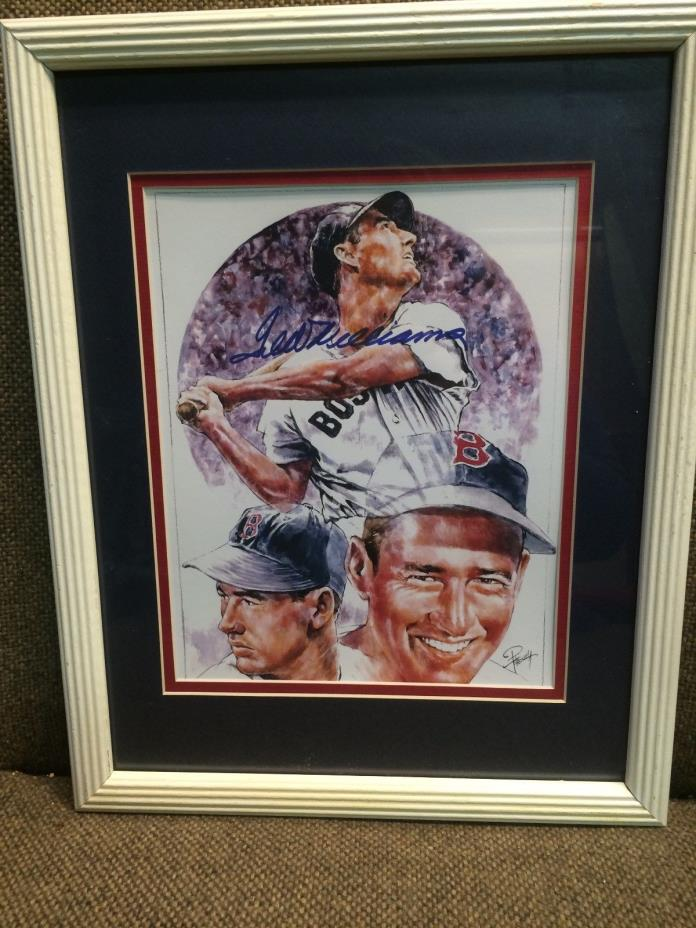 Ted Williams Autographed Petronella Print
