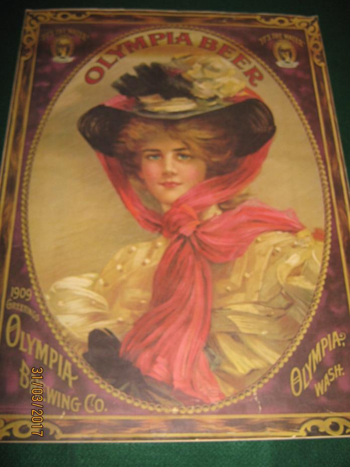 VTG OLYMPIA BEER ADVERTISING POSTER 27