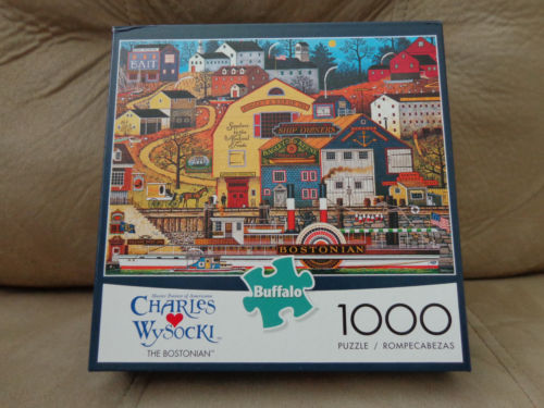 NIB Charles Wysocki THE BOSTONIAN Puzzle Buffalo Games 1000 Jigsaw