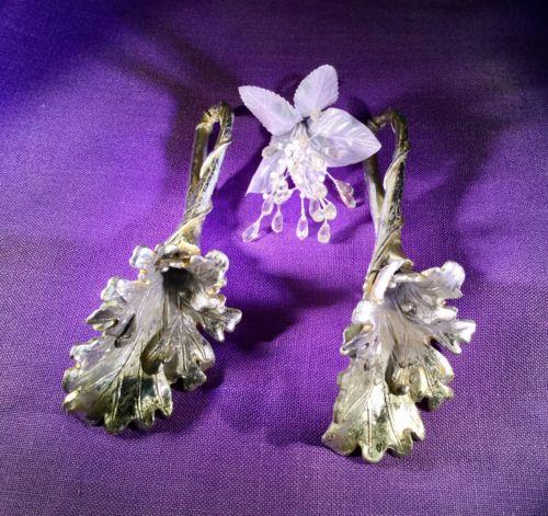 Tussie Mussie Silver Leaf Fancy Victorian Wedding Bouquet Posy Holders (2) New