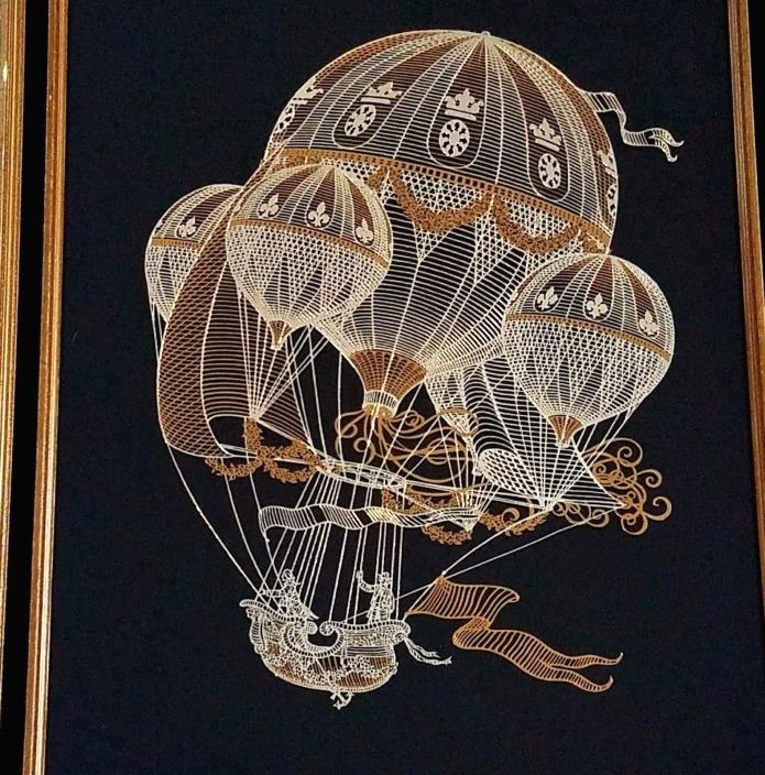 Flight Of Fancy Art By Yves Beaujard Framed Limited Edition Franklin Mint & COA