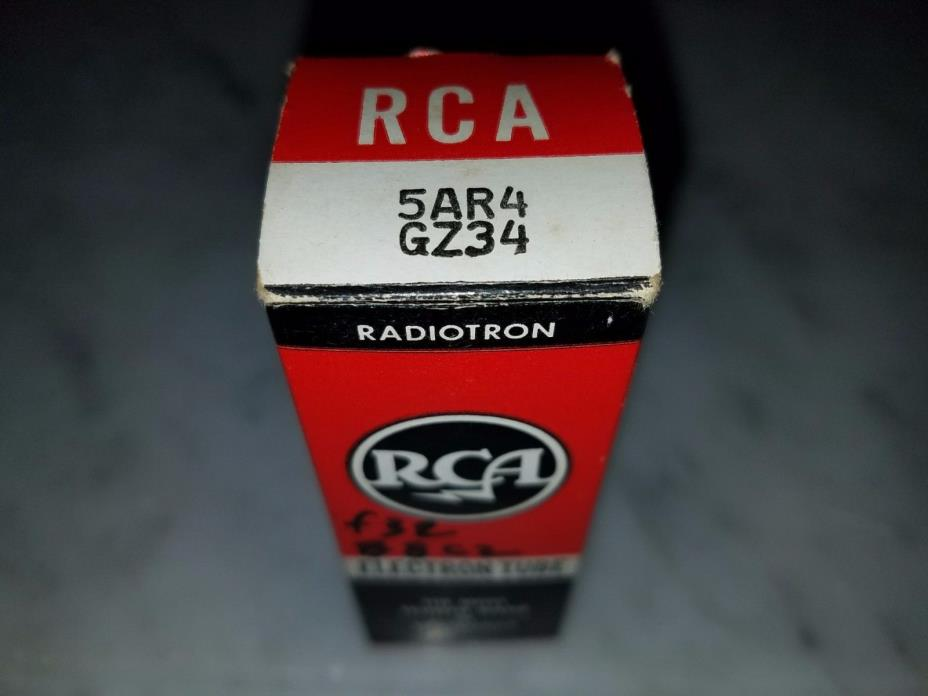 5AR4 GZ34 Mullard BLACKBURN NOS rectifier tube