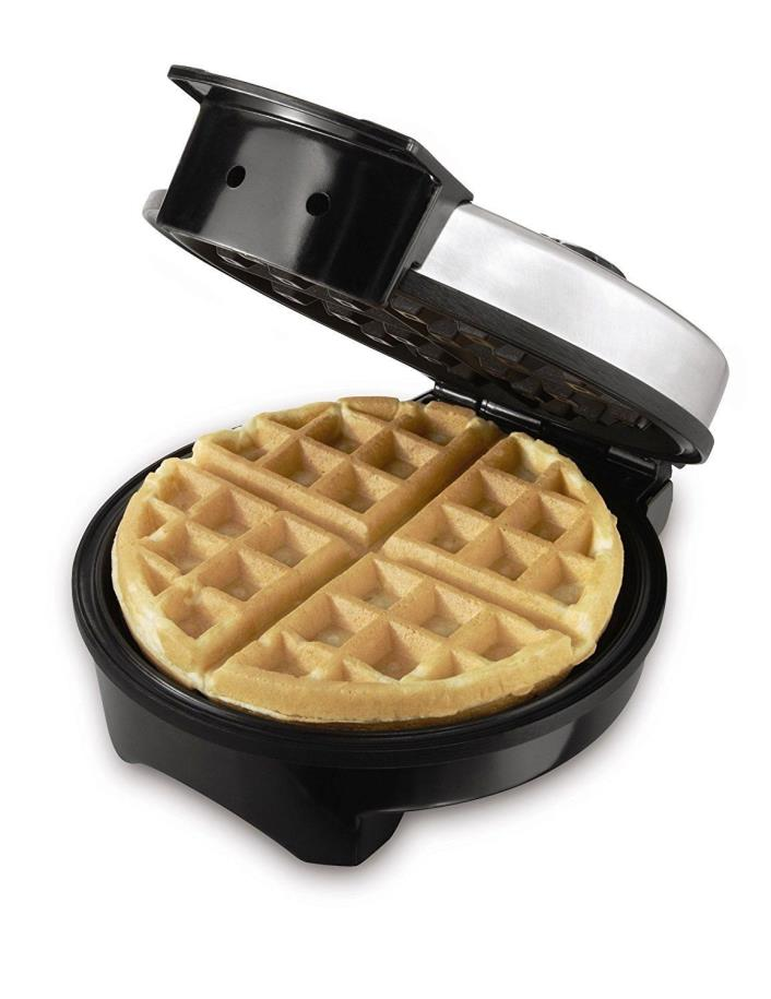 Waffle Maker Fluffy Crispy Waffles Adjustable Temperature Control 8-inch Plate