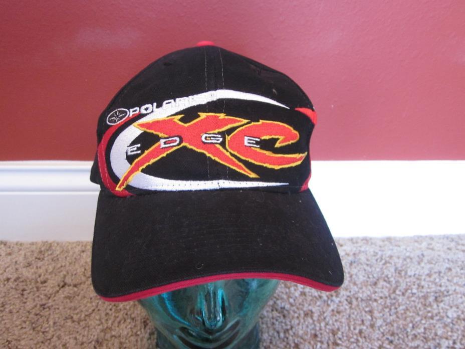 VINTAGE POLARIS XC EDGE adjustable black HAT cap Snowmobiles