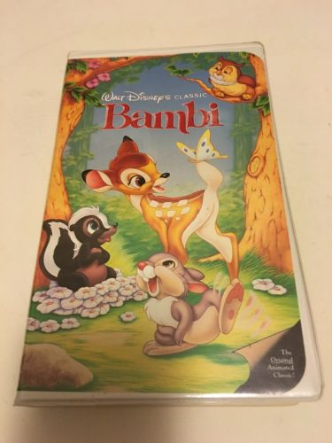 VINTAGE VHS TAPE BLACK DIAMOND BAMBI DISNEY MOVIE CLAMSHELL CASE