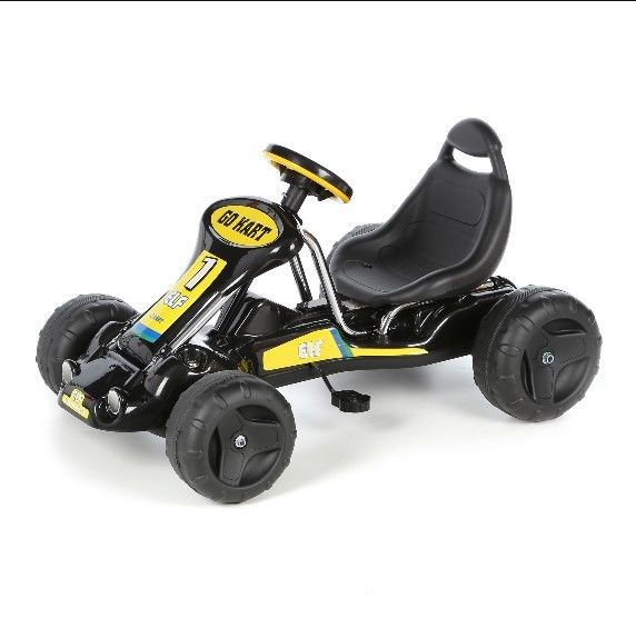 Lil Rider Stealth Pedal Powered Bucket Seat With High Back Washable Tires Black