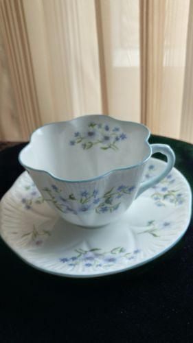 Shelley Cup & Saucer - Blue Rock - # 13691