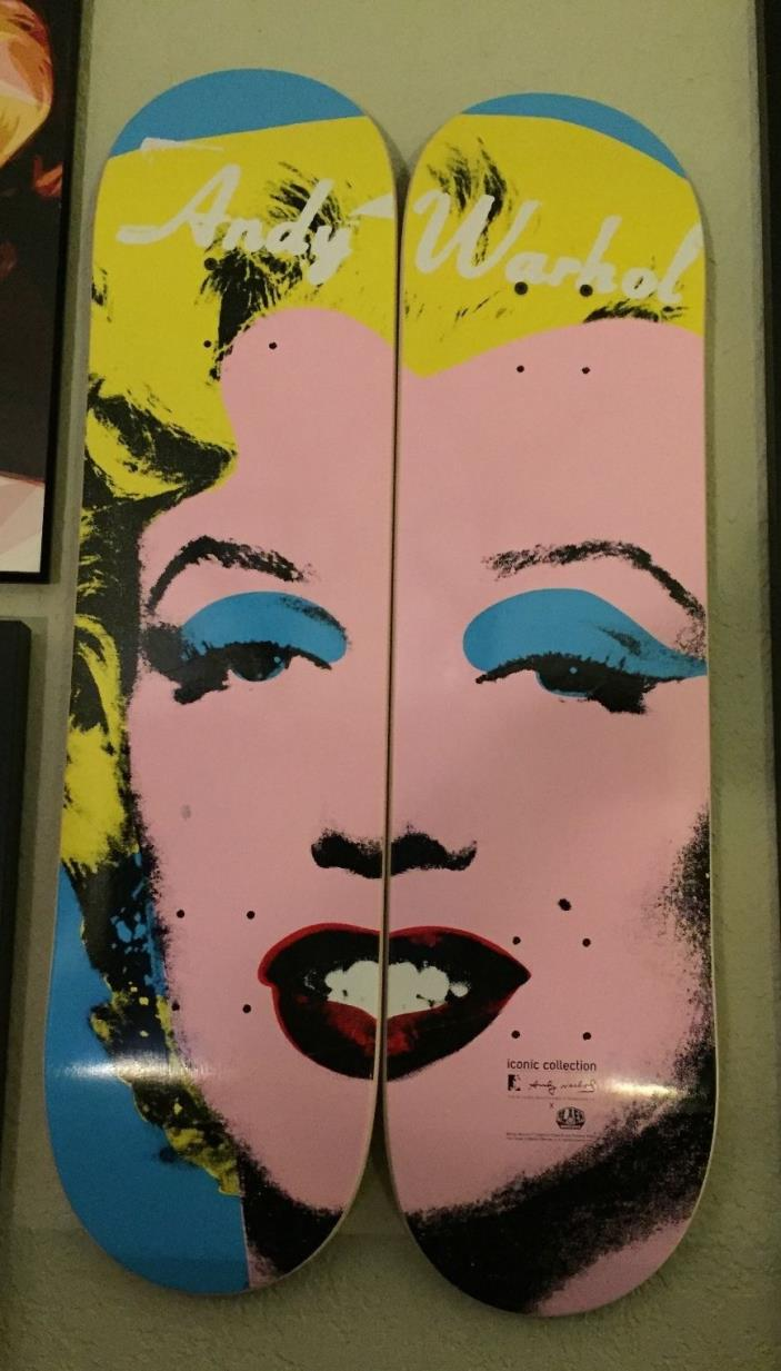 Brand New ALIEN WORKSHOP MARILYN MONROE ANDY WARHOL Skateboard Deck Set