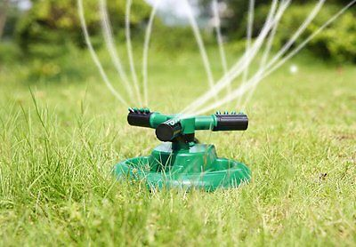 Lawn/Garden Sprinkler: Benestellar Circular Sprayer Durable Rotary 3-Arm Water