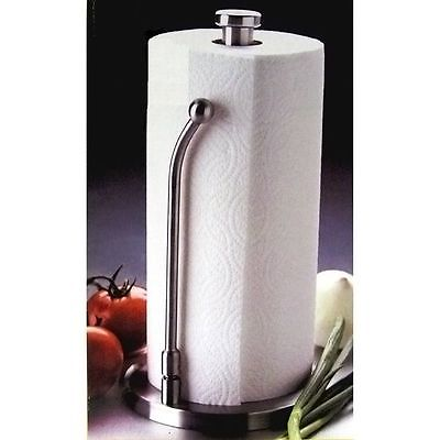 Stainless Steel Wall Mount Kitchen Under Cabinet Upright Paper Towel Holder