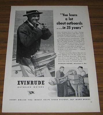 1945 Vintage Ad Evinrude Outboard Motors Milwaukee,WI