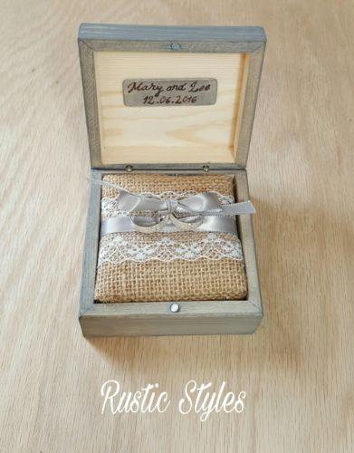 Ring Bearer Box Wedding Ring Box Wedding Ring Holder Wooden Box Wedding Rustic