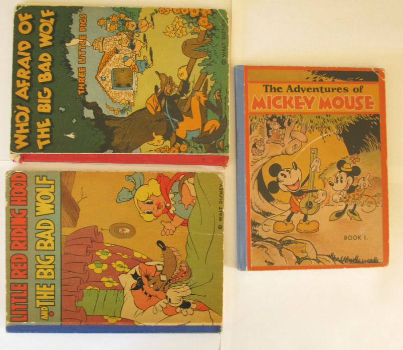 THE ADVENTURES OF MICKEY MOUSE BOOK1 (1931) + 2 MORE DISNEY CLASSICS -  RARE