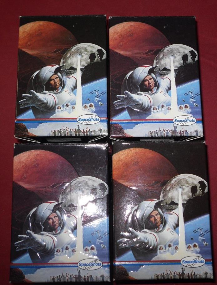 Lot of 4 1991 Space Shots Moon Mars 36 Card Special Edition Trading Card Set