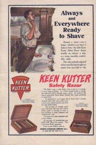 1909 KEEN KUTTER RAZOR BLADE SHAVE CREAM BARBER SALON 10200