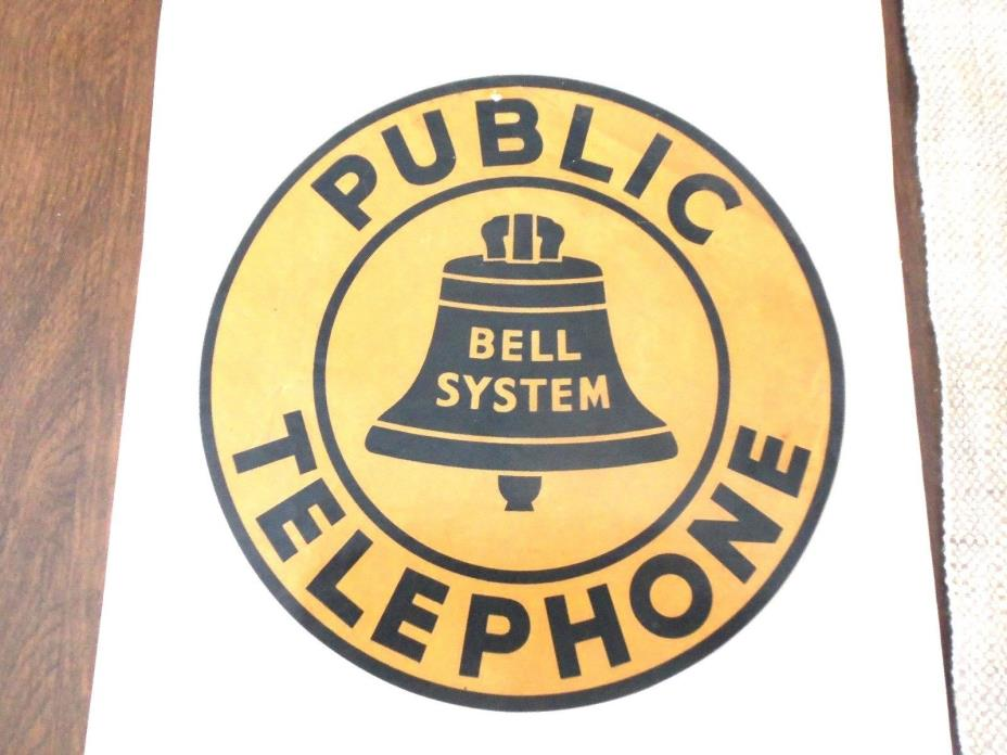 Vintage Bell System Public Telephone Decal