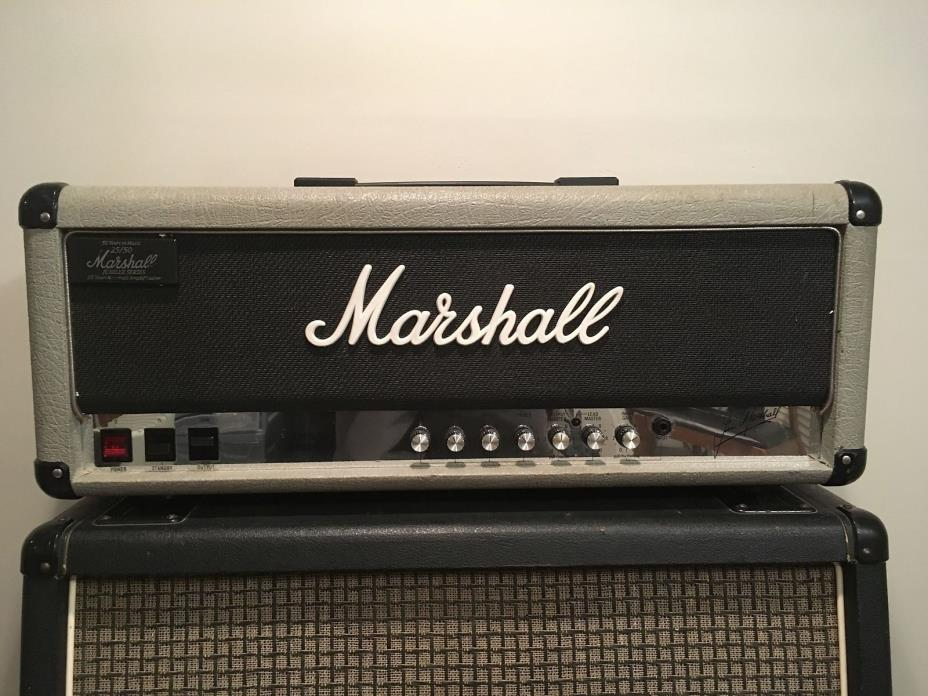 Vintage 1987 Marshall 2555 Silver Jubilee 100 Watt Head! Serviced With New JJ's!